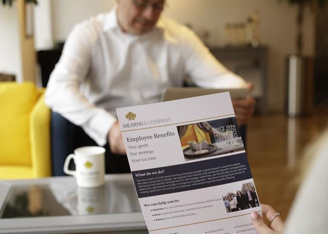 image of employee benefits document